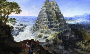 'The Tower of Babel' (1595) by Lucas van Valckenborch.