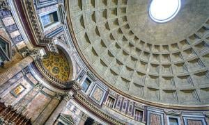 This is the ceiling of the Pantheon in Rome, Italy Photograph by Anne Dirkse