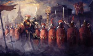 Roman soldiers and their general (vukkostic / Adobe Stock)