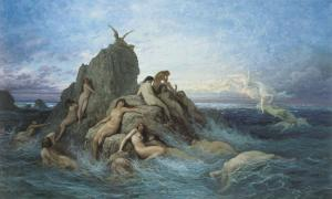 Oceanides, Gustave Dore (1860-1869).