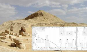 Pyramid of Pepi II with smaller pyramids for the queens Neith, Iput II and Udjebten.