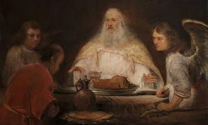 'Abraham and the Angels' by Aert de Gelder