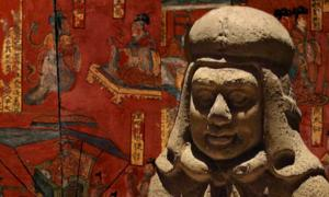 Detail of a figure of a Xianbei warrior. (Editor at Large/CC BY SA 2.5) Background: Filial sons and virtuous women in Chinese history, a lacquer painting over a four-panel wooden folding screen; from the tomb of Sima Jinlong in Datong, Shanxi province, dated to the Northern Wei Dynasty (386–534 AD)