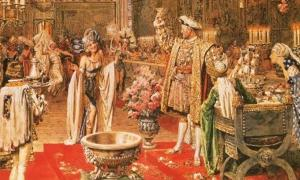 Toasting the revels: The court of Henry VIII, as depicted by the Italian artist Fortunino Matania.