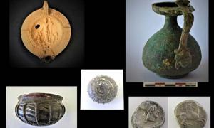 The findings included vases and a series of lamps, notably some included depictions of the Roman goddess Venus and two cupids.
