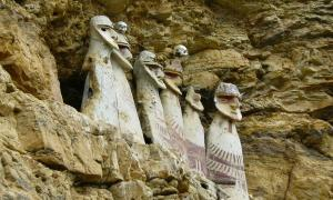 The sarcophagi of Carajia, emblematic of the lost Chachapoya culture