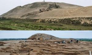 The site of Huaca Prieta, also called Chicama, in northern coastal Peru, located at the mouth of the Chicama River