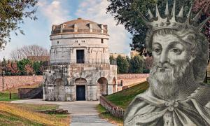 The Mausoleum of Theodoric the Great bears testament to the peace between the Romans and Goths of Ravenna during his reign. Source: ermess / Adobe Stock and Public domain.