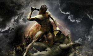 Theseus and the Minotaur.