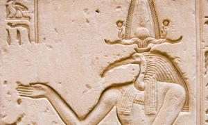 Carving of the ancient Egyptian god Thoth