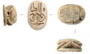 Tiny pharaoh-branded amulet - Sheshonq I