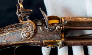 Tipu Sultan's battle-damaged flintlock musket found in an attic in England