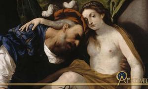Tiresias transformed into a woman by Pietro della Vecchia (1626 – 1678)