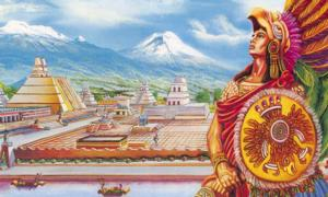 Representation of Cuauhtémoc, the last tlatoani