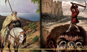 Features The Return of the Crusader by Karl Friedrich Lessing, and an illustration from Jack the Giant Killer