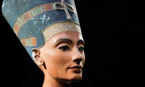 Bust of Nefertiti, the Egyptian Queen for whom a tomb has yet to be found.