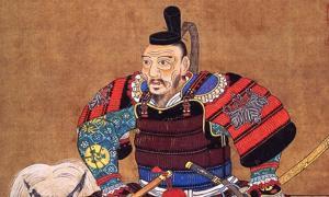 A portrait of Toyotomi Hideyoshi.