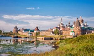 A photo of the Solovetsky Monastery