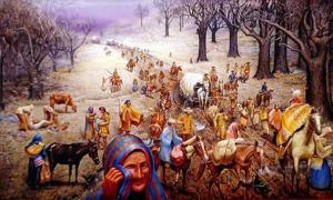 """Max D. Stanley's painting """"The Trail of Tears."""""""
