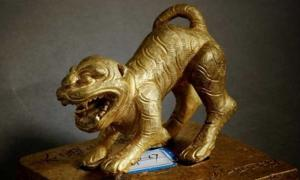 A gold seal was one of the many treasures recovered from the Minjiang River in Sichuan, China.