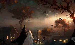 An illustration of the 'Black Dog' series by Dusty Crosley, a twisted Halloween tale of horror written by Terry Lambert.