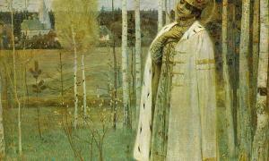 Tsarevich Dimitry by Mikhail Nesterov. (1899)