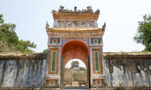The Gate of Imperial Tomb of Emperor Tu Duc in Hue, Vietnam.