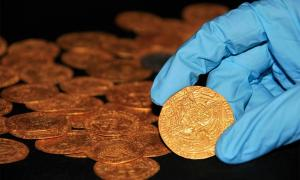 Tudor coins discovered in surprising hoard in the garden of a house in the New Forest, Hampshire. Source: The Trustees of the British Museum.