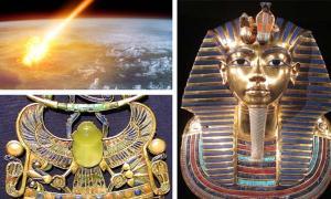 A comet strike/ Tutankhamun's brooch/Tutanhhamun's Sarcophagus