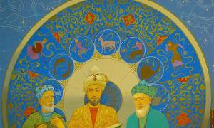 Painting of astronomers located at the Ulugh Beg Observatory in Samarkand, Uzbekistan. Source: LoggaWiggler / CC0
