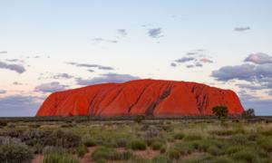 The Uluru sacred site in Australia