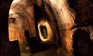 A tunnel in Gilmerton Cove.