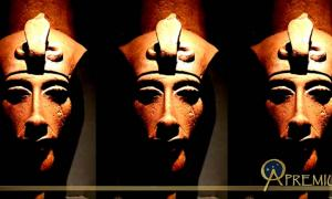 A bust of Pharaoh Akhenaten. Design by Anand Balaji.