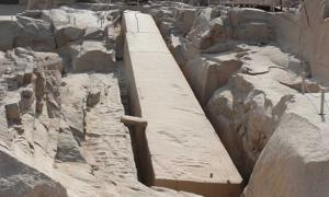 A photo of the Unfinished Obelisk at Aswan