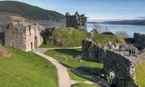 Urquart Castle on Loch Ness, Scotland