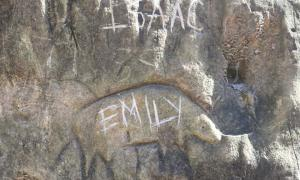 The U.S. Army Corps of Engineers at Kanopolis Lake recently discovered vandalism to an ancient petroglyph and is seeking information from the public.