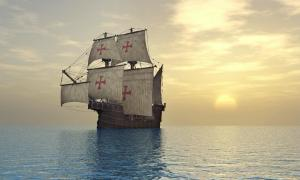 Portuguese caravel of the 15th century. Credit: Michael Rosskothen / Adobe Stock