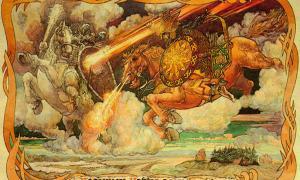 Battle between Veles and Perun.