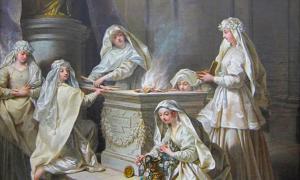 Vestal Virgins Tending the Sacred Fire.