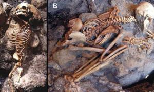 Human victims discovered on the sea-shore area of Herculaneum.