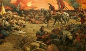 Battle between the Xiongnu (Hun) and the Han Dynasty