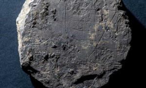 The Viking gaming board which has been found in Aberdeenshire, Scotland.
