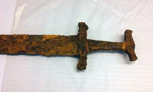 The 1,000-year-old Viking sword discovered in Iceland.
