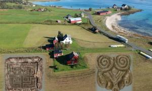 Artifacts discovered by Tor-Kjetil Krokmyrdal at Sandtorg farm, believed to have once been a Viking trading station, include objects of Eastern origin (on the left) and from the British Isles (on the right). Source: Julie Holme Damman, The Arctic University Museum of Norway and Tor-Ketil Krokmyrdal.