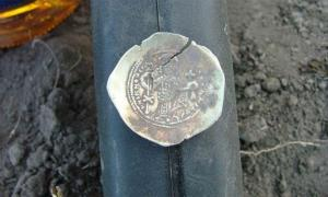 One of the Russian Viking coins found in Ireland. Source: Robert Carley