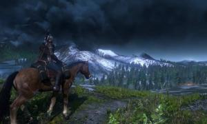 A scene of a Viking on a horse from New Witcher 3: Wild Hunt