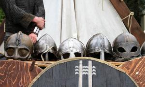 Viking helmets are special and few have been found but the Viking mercenary district warriors of Bathonea would have surely worn them as they fought for and protected the Byzantine emperor.	Source: Helgi Halldórsson from Reykjavík, Iceland / CC BY-SA 2.0