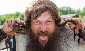 Crazy Viking face (khosrork / Adobe Stock)