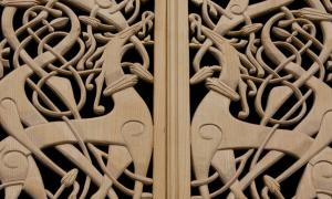 Viking patterned woodwork