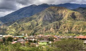 View over Vilcabamba, Ecuador